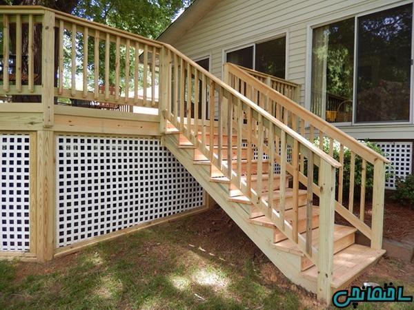 طراحی راه پله های خارجی ساختمان