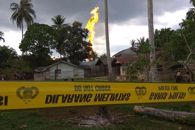 حریق چاه نفت در اندونزی 50 کشته و زخمی به جا گذاشت