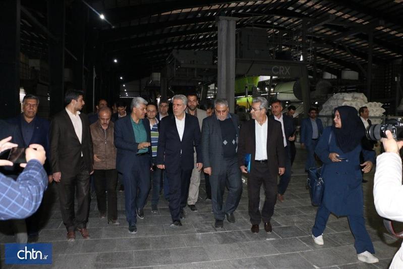 افتتاح فاز دوم شرکت صنایع نساجی اطلس ریس کاشان توسط دکتر مونسان