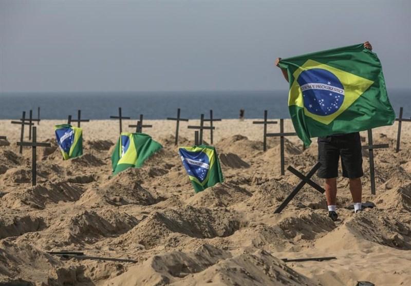 حفر قبرهای نمادین در برزیل برای گرامیداشت قربانیان کرونا