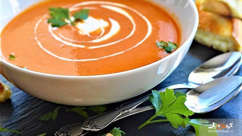 سوپ گوجه فرنگی ایتالیایی ساده و خوشمزه