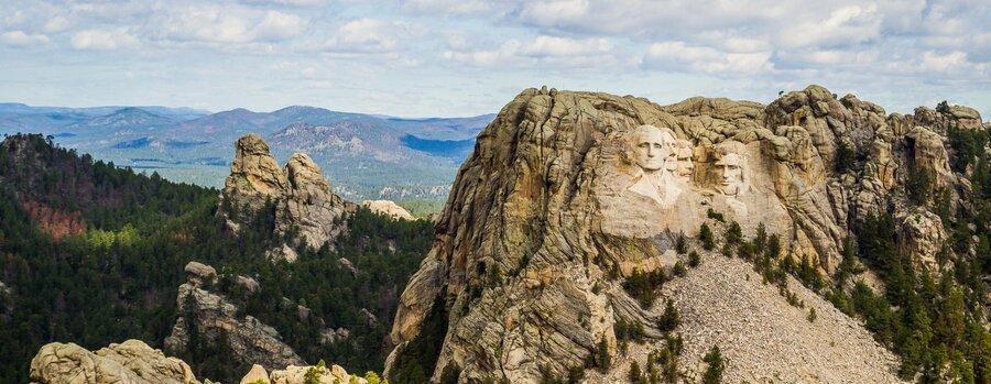 معرفی یادبود ملی کوه راشمور، کیستون، داکوتای جنوبی ، چهره رییس جمهورهای آمریکا روی کوه