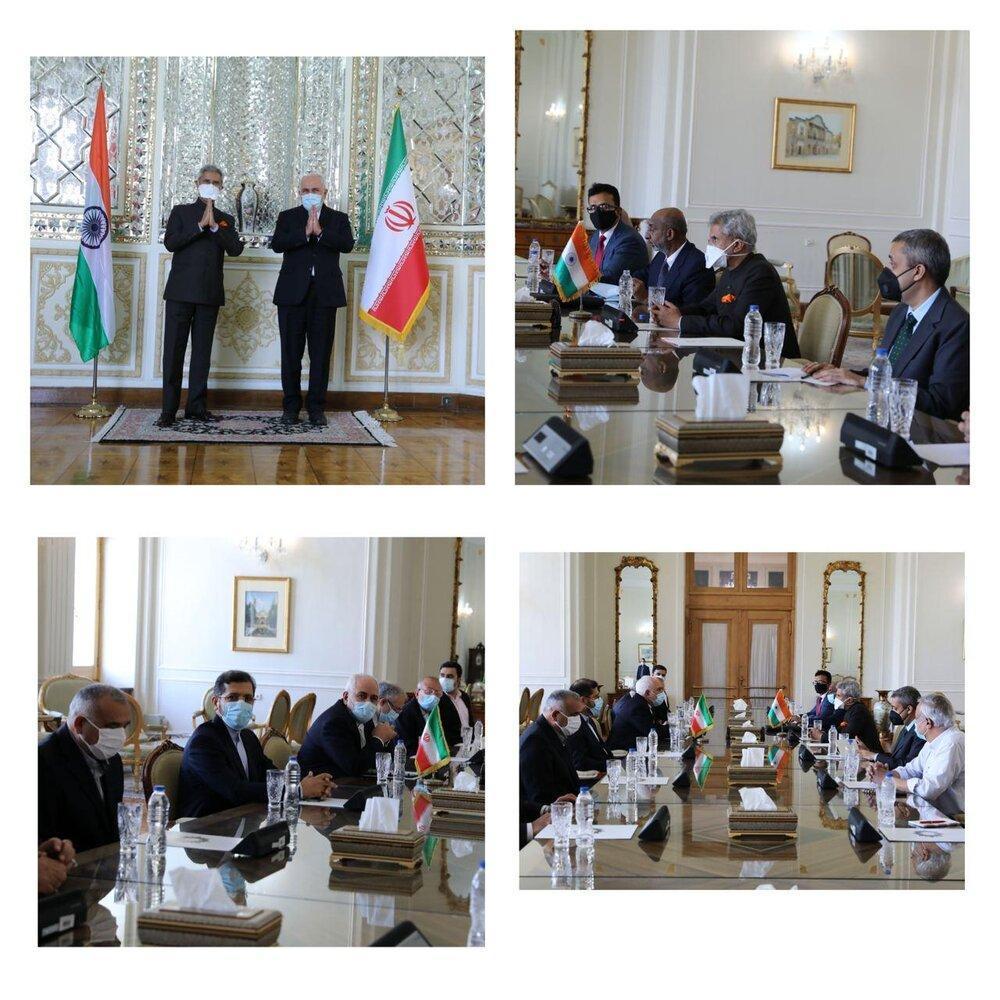 توئیت ظریف درباره سفر وزیرخارجه هند به تهران