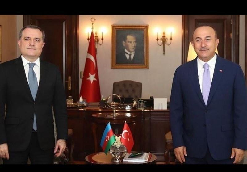وزرای خارجه ترکیه و جمهوری آذربایجان درباره آتش بس قره باغ مذاکره کردند