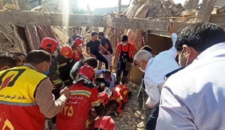 (عکس و ویدئو) انفجار مرگبار گاز در بازار عامری اهواز