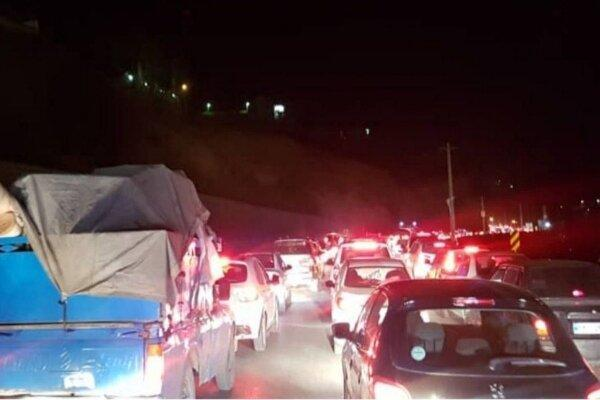 حرکت به سمت شمال شروع شد، ترافیک در جاده چالوس!