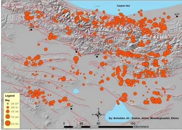 ثبت زمین لرزه 4 ریشتری در استان خوزستان، وقوع 2 زلزله در اطراف تهران