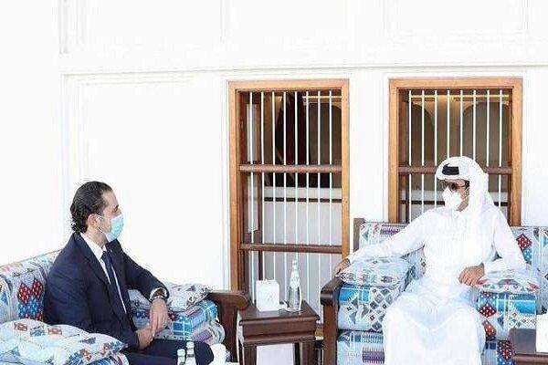 رایزنی امیر قطر با سعد حریری