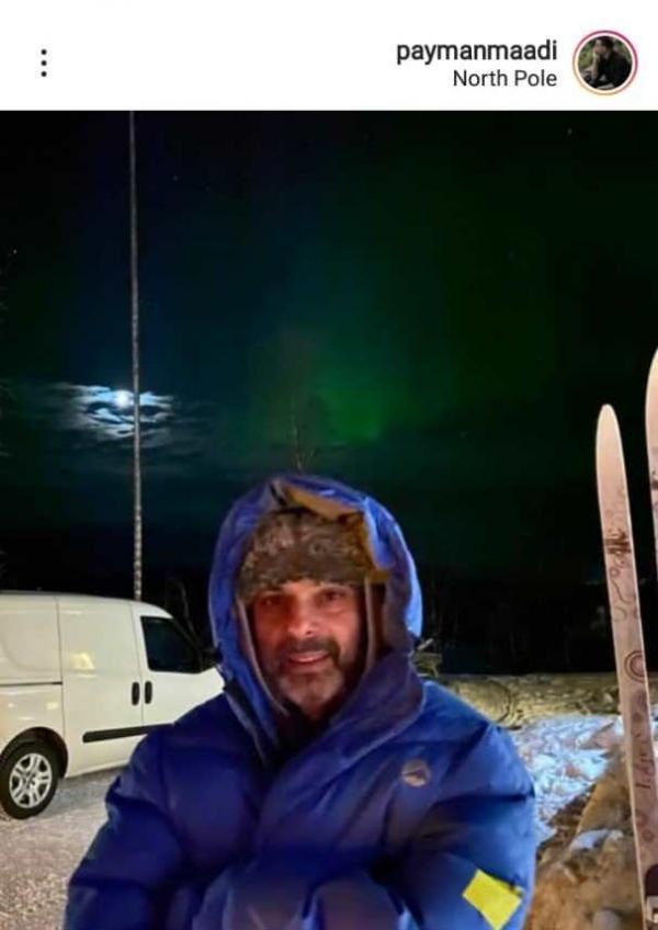 بازیگر معروف ایرانی در سفر قطب شمال، عکس