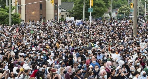 ادای احترام هزاران کانادایی به ترور یک خانواده مسلمان