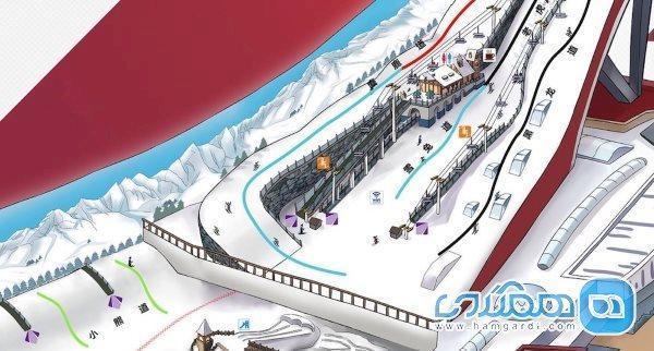 بزرگترین پیست اسکی سر پوشیده جهان در چین